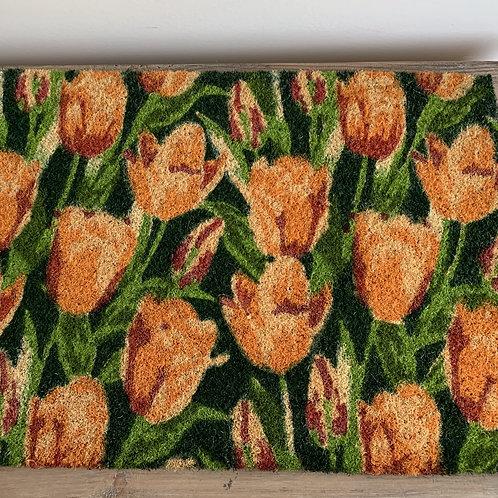 Coir mat - Tulips