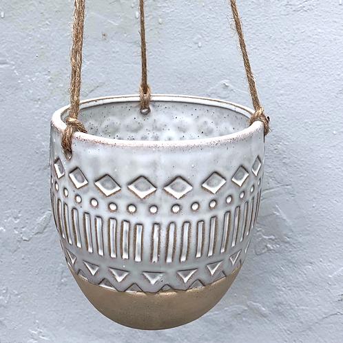 Aztec Hanging Pot (round)