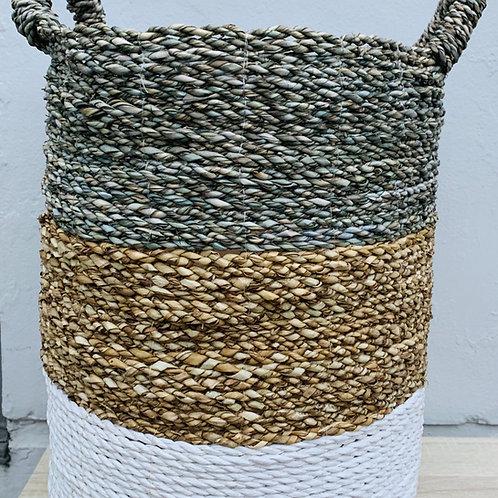 Tricolor Seagrass Basket