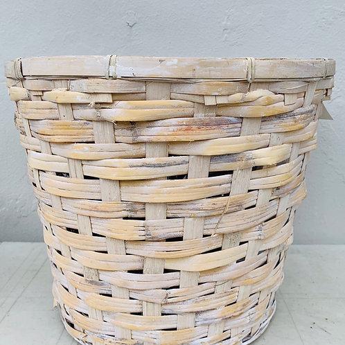 Rattan Basket Whitewash