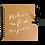 Thumbnail: Livre d'or en kraft personnalisé CALLIGRAPHIE