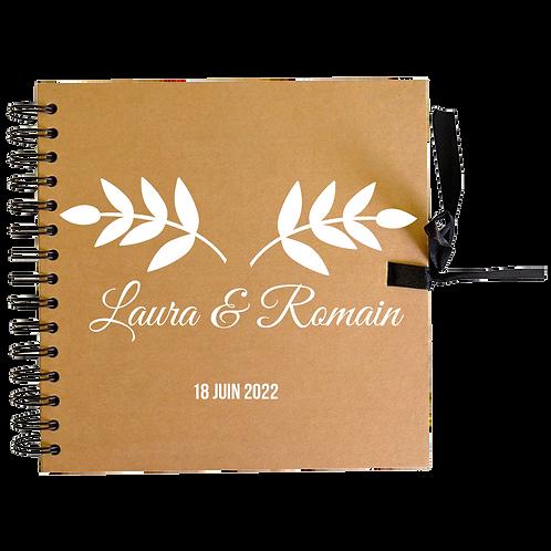 Livre d'or en kraft personnalisé ROMANCE
