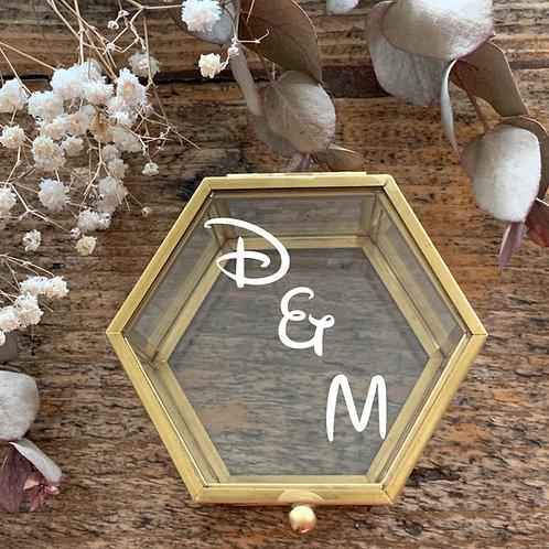 Boîte à alliances en verre personnalisée DREAM
