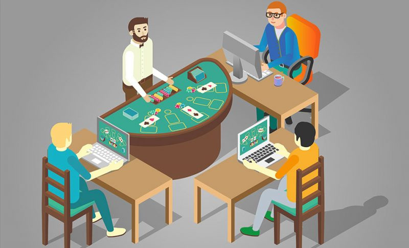 Poker Cards Table