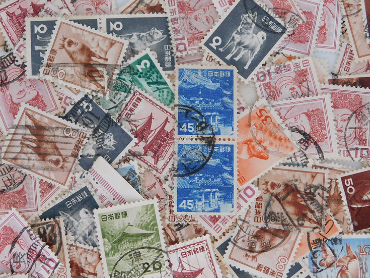 <200pcs> Old stamp 動植物 used  OFF paper free ship
