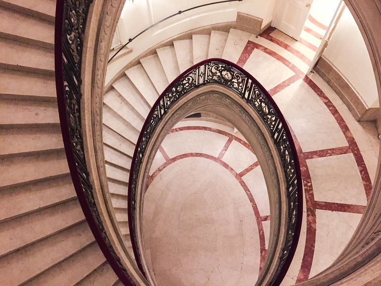 Spiral Marble Staircase professionally cleaned by All Points Cleaning Service of Brooklyn, NY
