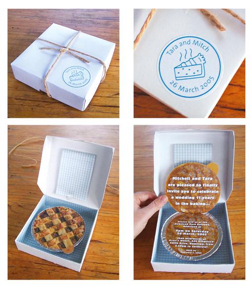 Apple Pie Wedding Invitation