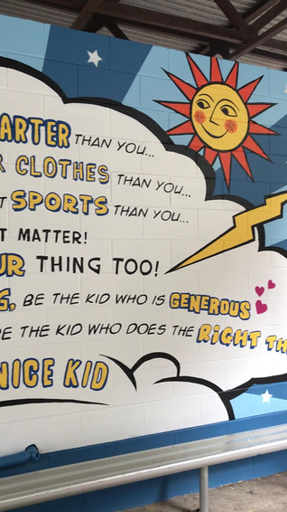 Be the nice kid: Mural