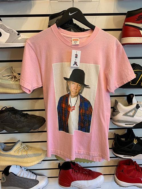 Supreme Pink Neil Young Tee Sz M