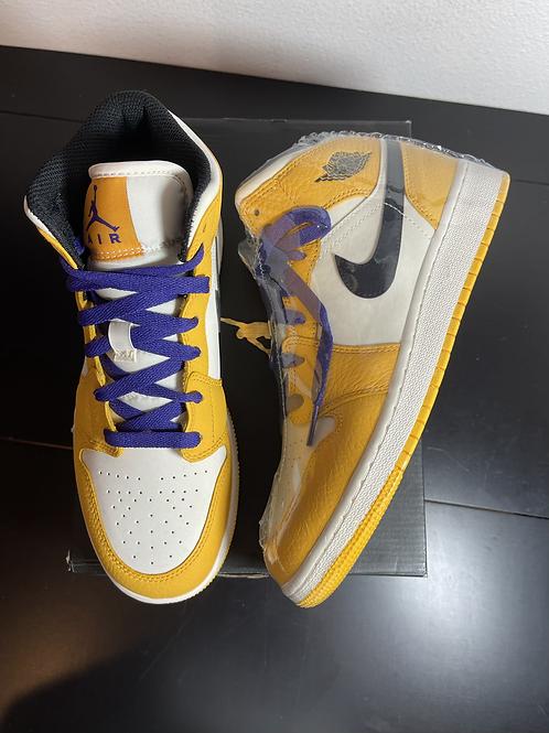 DS Lakers AJ1 Mid Sz 6.5Y/8W