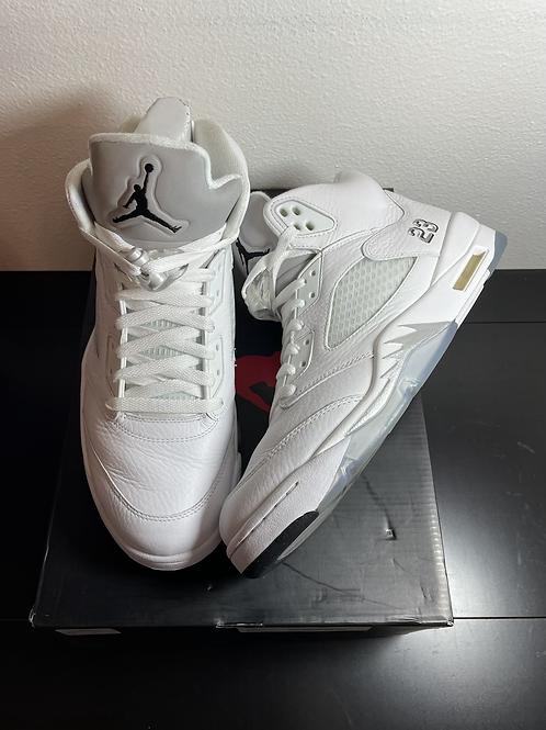 2015 Metallic White AJ5 Sz 11