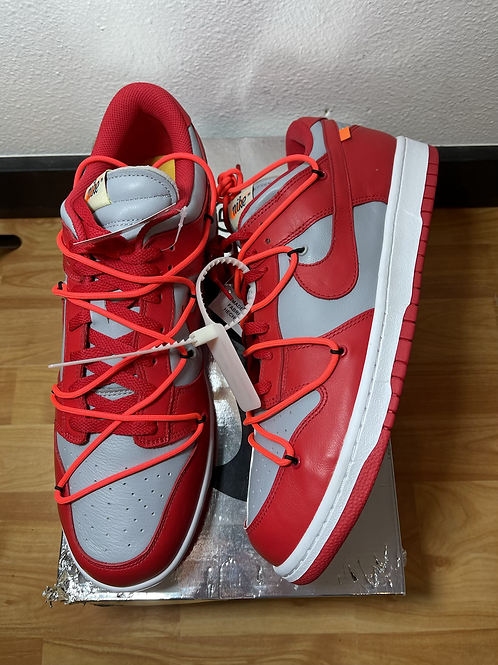 DS Off White Red Dunk Sz 14