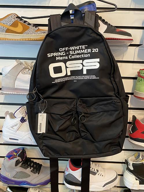 OFF White Shell Logo Backpack