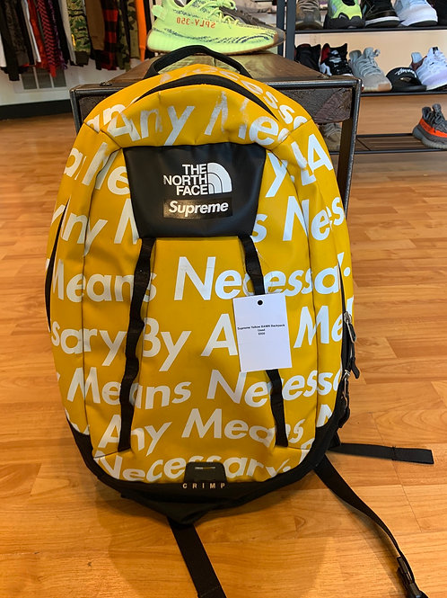Supreme FW15 BAMN Yellow Backpack