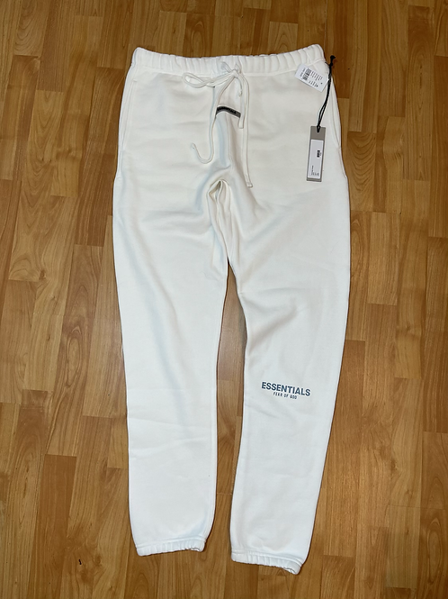 FOG Essential SS20 White Sweats Sz Large