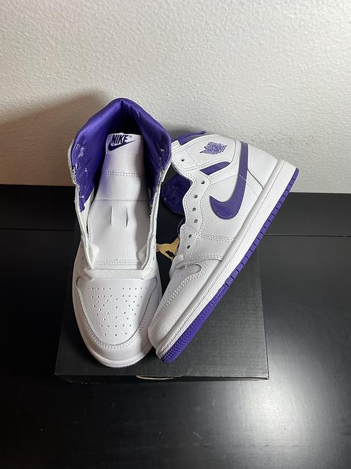 DS Court Purple AJ1 Sz 3Y/4.5W