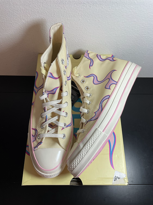 DS Yellow Flame Golf Converse Sz 10