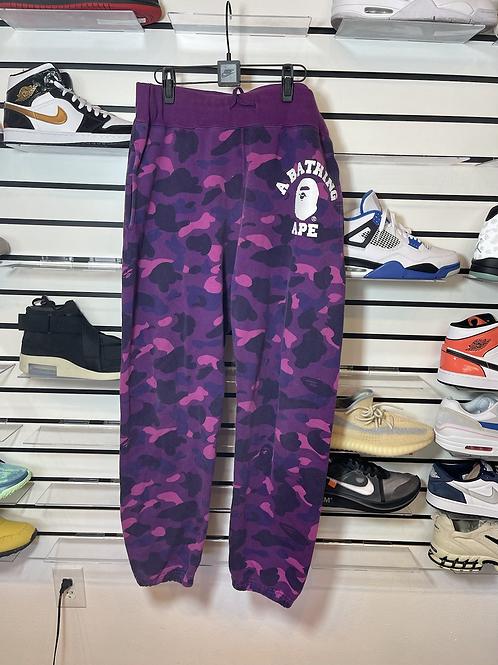 Bape Purple Camo Sweats Sz XL