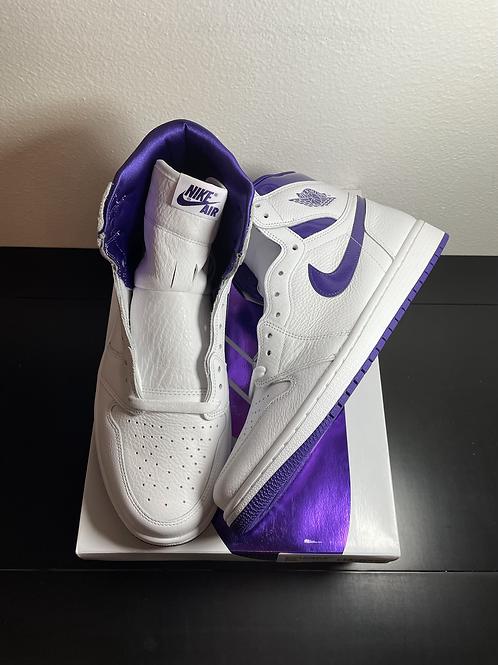 DS Court Purple AJ1 Sz 12W/10.5M