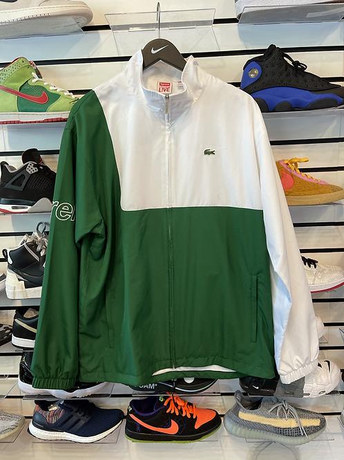 Supreme Lacoste Jacket Green Sz XL