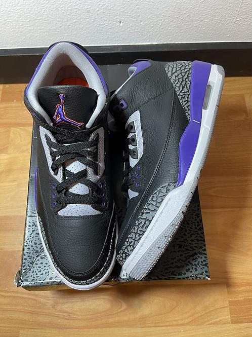 Court Purple AJ3 Sz 12