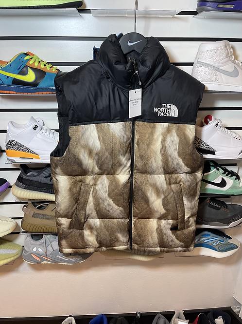 Supreme Fur North Face Vest Sz S