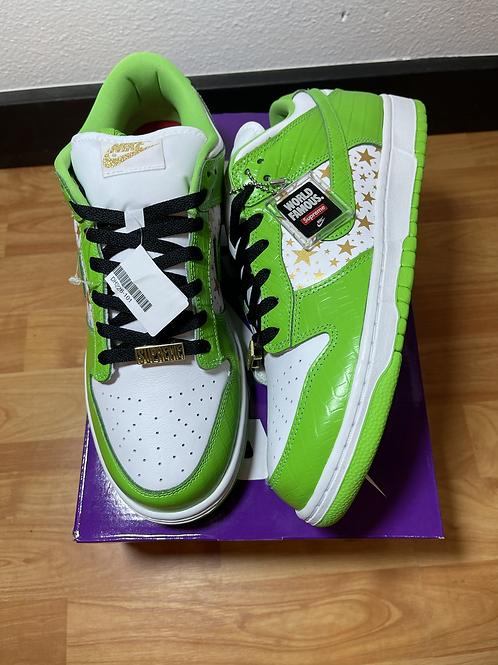 DS Mean Green Supreme SB Dunk Sz 10