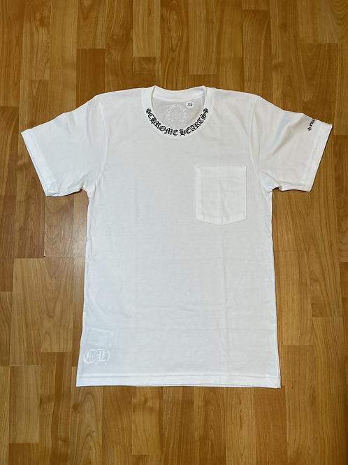 Chrome Neck Pocket T Shirt Sz XS