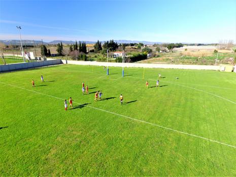football-drone-photo