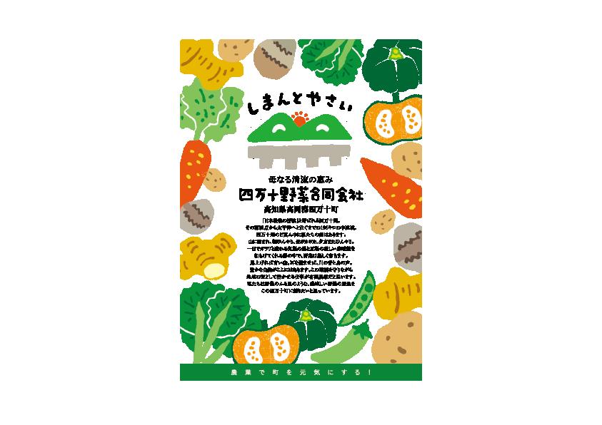 四万十野菜合同会社「しまんとやさい」チラシデザイン