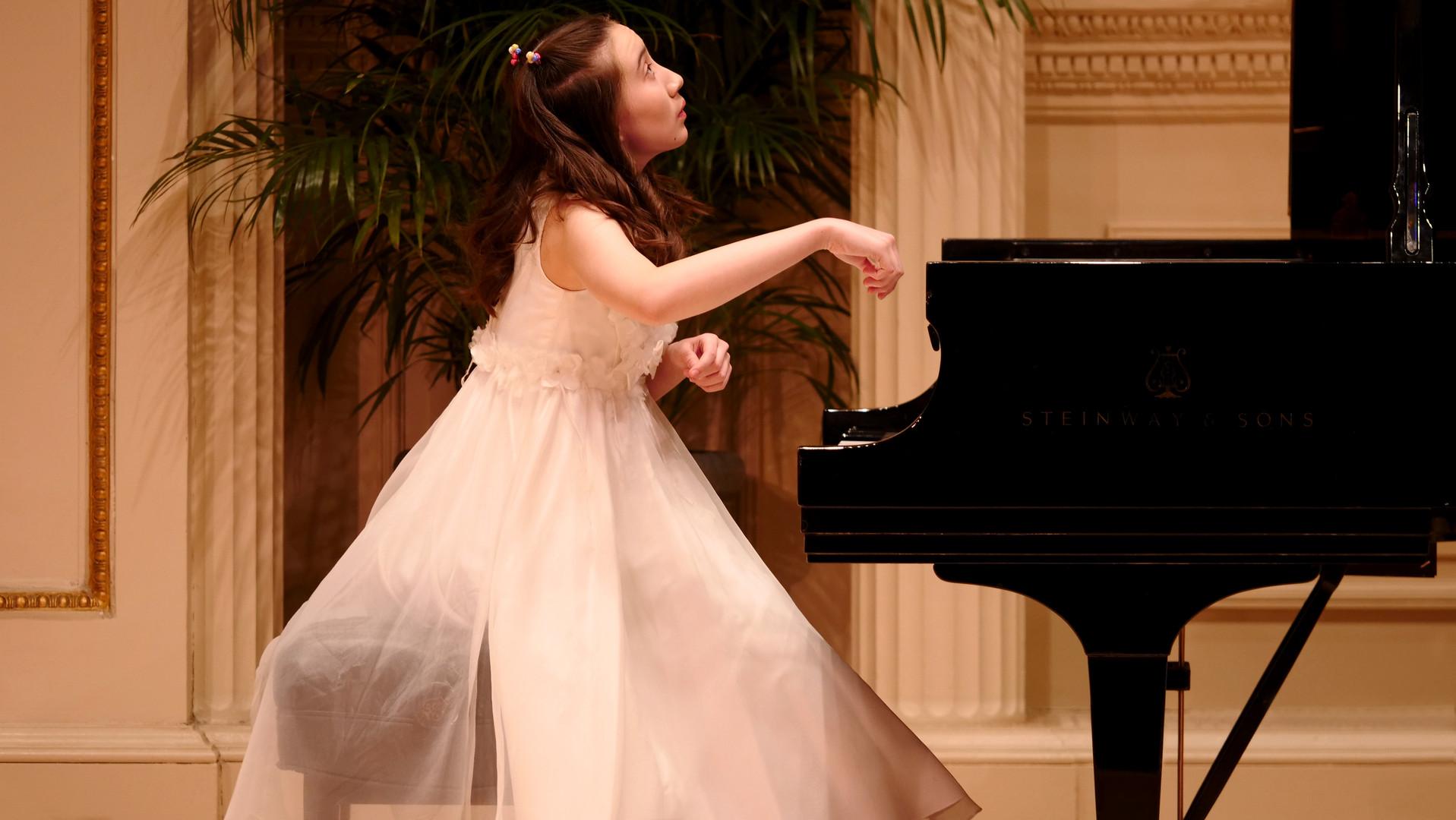 Clara Belle Wrolstad Playing Piano