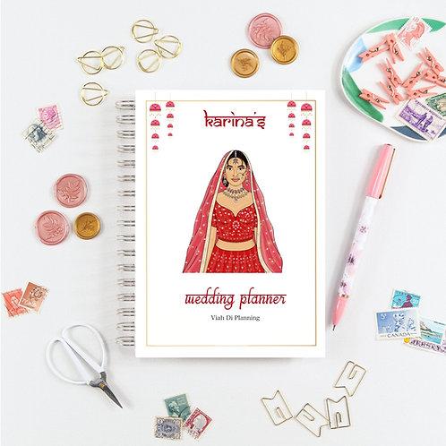 Red Sikh Bride Wedding Planner