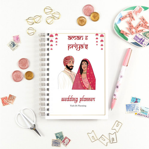 Pink Sikh Couples Wedding Planner