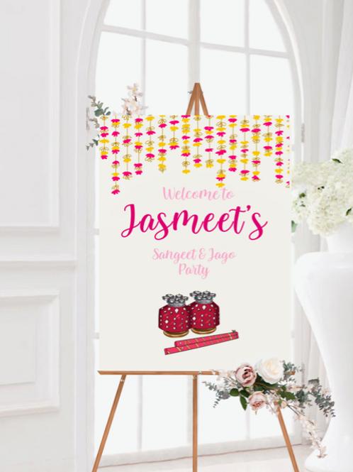 Sangeet/Jago Welcome Sign