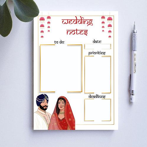 Couples Wedding Notepad