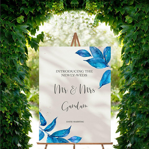 Mr + Mrs Wedding Sign