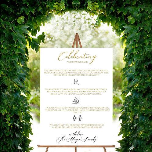 Gurdwara Covid Wedding Sign