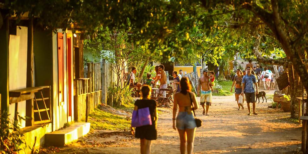 Na vila de Caraíva-BA