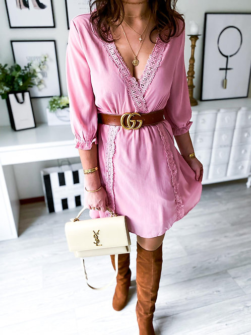 Robe Shelly vieux rose