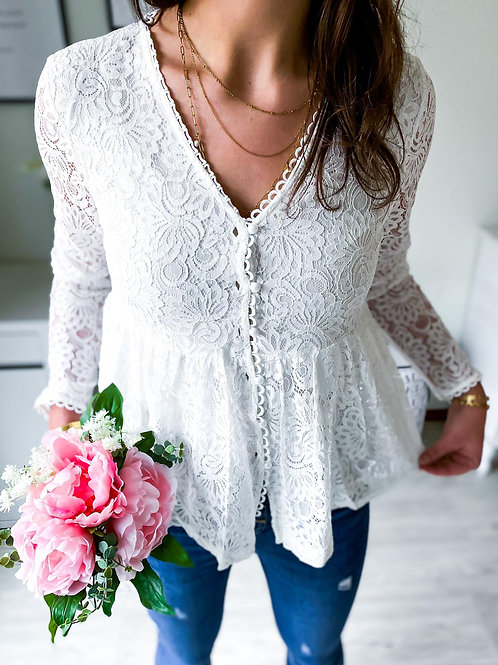 Blouse Camille blanche