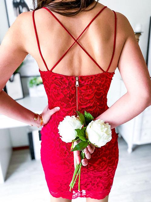 Robe Monica rouge