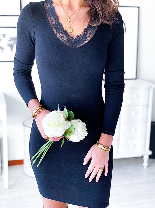 Robe pull Léa noire