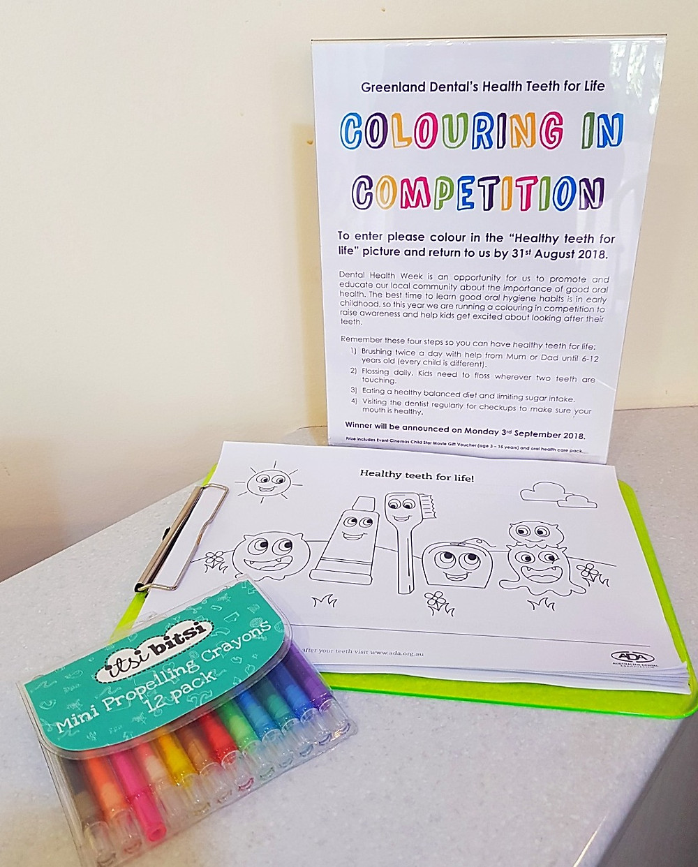 Healthy teeth colouring in competition