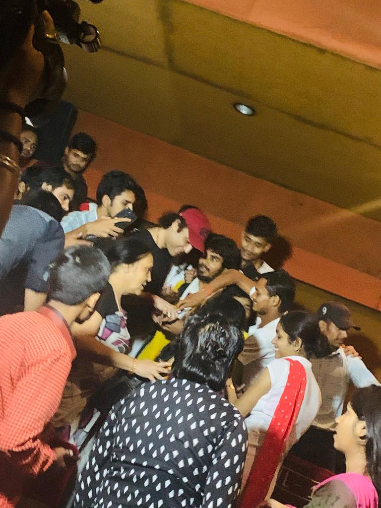 Megastar Aazaad at Banaras with fans