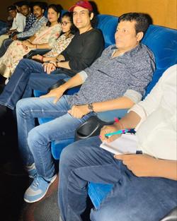 Megastar Aazaad at Banaras with fans