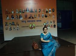 Filmmaker Kamini Dube at Haridwar