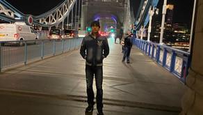 World premiere of Megastar Aazaad's Aham Brahmasmi in London.