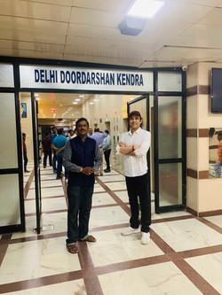 Megastar Aazaad at Doordarshan Kendr