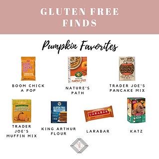 Gluten Free Pumpkin Favorites