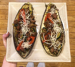 Eggplant Boats with Ground Beef